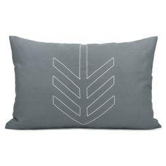 Geometric decorative pillow case  White arrow by ClassicByNature, $34.00