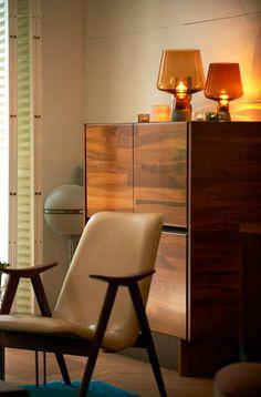 Leimu lamp - Iittala home in Amsterdam Marimekko, Scandinavian Style, Interior Inspiration, Mid Century, Loft, Living Room, Chair, House, Finland