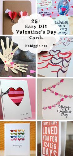25+ DIY easy Valentine's Day cards   NoBiggie.net