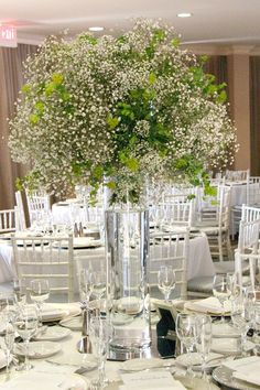 Abundant Babies Breathe Centerpieces. Y'all know how I feel about flowers...so if we can make this fit the scheme and its cheaper?!