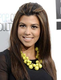 Kourtney Kardashian Hair HOW'D SHE GET HER BLACK HAIR THAT LIGHT
