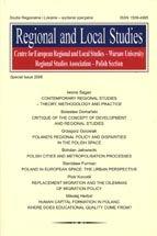 Wydawnictwo Naukowe Scholar :: :: 2006 REGIONAL AND LOCAL STUDIES STUDIA REGIONALNE I LOKALNE UWAGA!!! Do kupienia także w PDFie