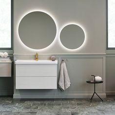 Vedum spegel rund med ljuskant 600 mm