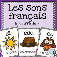 Les sons français: French Sound Posters Over 50 different French sounds represented in this beautiful poster pack! Great reference for students learning French Teaching Resources, Teaching French, Teaching Spanish, Teaching Reading, French Alphabet, French Worksheets, French Education, Core French, French Classroom