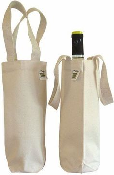 ECOBAGS Bar Tools Glasses Canvas Wine Bag for 750 mL Bottle 100% Recycled Cotton #Ecobags