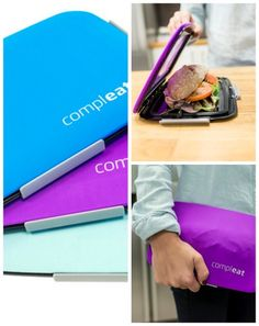 Whoa: reusable, flexible lunchbox food skin with a solid base, and a top that stretches to keep food cold and in place. Really clever.
