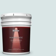 BEHR MARQUEE 5 gal. #MQ3-51 Crystalline Falls One-Coat Hide Matte Interior Paint