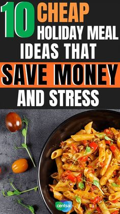 10 Cheap Holiday Meal Ideas That Save Money and Stress. Do the holidays leave you broke and stressed? They don't have to. Check out our cheap holiday meal ideas to save your money and your sanity. #CentSai #savingmoney #frugality #holiday #frugalmeals #frugalholidays Holiday Recipes, Great Recipes, Recipe Ideas, Holiday Ideas, Earn More Money, Make Money Fast, Frugal Meals, Budget Meals, Cheap Holiday
