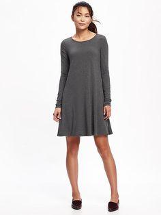 Knit Swing Dress for Women, in Heather Gray. Old Navy.*