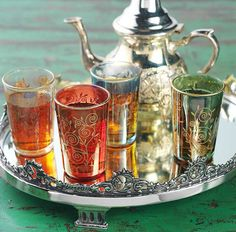 I really wish I would have brought one of these Moroccan tea sets back from Granada...