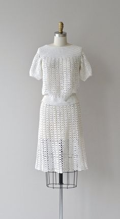 Bestway crochet dress vintage 1930s crochet dress by DearGolden