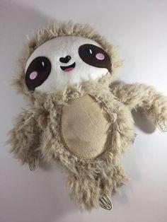 Three Toed Sloth Plush  Stuffed Sloth  Sloth Toy  Sloth