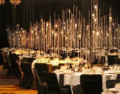 Thousands of hanging crystals and hundreds of hanging candles created this lovely Gala event @ the Meydenbauer Center~turned out magical!