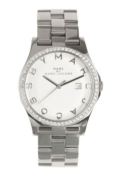 Silver Crystal Bezel Watch by Marc by Marc Jacobs Watches  need this!