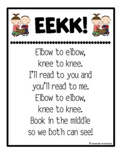 Use this poster to remind your little sweeties to sit elbow-to-elbow