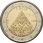 Todas las Monedas de 2 Euros Conmemorativas de Finlandia   Numismatica Visual Tove Jansson, Decorative Plates, Coins, Personalized Items, European Flags, Finland, Historia, Rooms