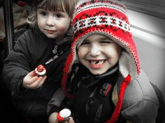 Look how a simple edit with B&W Color Pop in red makes this photo - well - pop! It just picks up the slight color in my daughter's cheeks and the icing on the cupcakes. My son's toothless smile adds a certain charm, too. #PSElements #MacKid