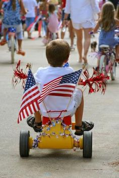 Fourth of July Parade. Too Cute!