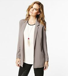 An essential in every woman's wardrobe! This boyfriend long soft jacket is perfect for pairing with dress pants or cocktail dresses. Style Wish, My Style, Every Woman, Dress Pants, Duster Coat, Boyfriend, Blazer, Sweaters, Jackets