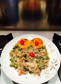 SMILE di quinoa, verdure e tortini di zucca