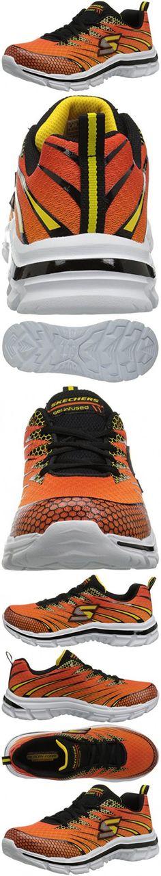 Skechers Kids Nitrate Sneaker (Little Kid/Big Kid), Orange/Black, 12.5 M US Little Kid