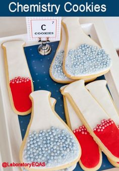 Chemistry Cookies -   For all little and bigger scientists who just adore the world of chemistry.