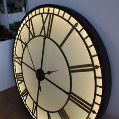 6c0262ea33d Extra Large big Illuminated Light Big Skeleton Vintage Clock UK