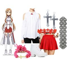 """Asuna"" by katewithpaint on Polyvore"