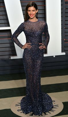 Sara Sampaio in Zuhair Murad Couture at the 2016 Vanity Fair Oscars After-Party Celebrity Gowns, Celebrity Red Carpet, Celebrity Outfits, Celebrity Style, Ball Dresses, Nice Dresses, Evening Dresses, Formal Dresses, Wedding Dresses