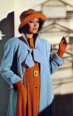 Marie Helvin, photo by Bailey, 1974 Seventies Fashion, 70s Fashion, London Fashion, Trendy Fashion, Fashion Models, Autumn Fashion, Vintage Fashion, Vintage Style, David Bailey Photography
