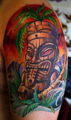_ tiki tattoo by cory norris _ tatts | tattoos picture tiki tattoo