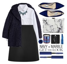 """""""Get the Look: Navy + Marble"""" by seannna-hale ❤ liked on Polyvore featuring Zadig & Voltaire, Chloé, Mixit, Prada, Balenciaga, Topshop, Lipstick Queen, Tom Dixon and MAC Cosmetics"""