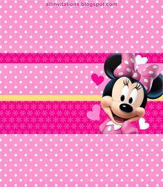 Etiqueta Chocolate Minnie Mouse