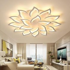 Modern Led Ceiling Lights, Led Ceiling Lamp, Ceiling Light Fixtures, Decorative Ceiling Lights, Living Room Light Fixtures, Ceiling Decor, Wall Decor, Ceiling Design Living Room, False Ceiling Design