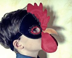 Hen and Rooster Mask PDF Pattern от oxeyedaisey на Etsy