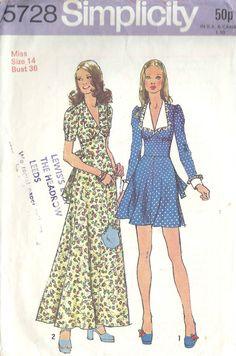 Patron de couture vintage 1971 B36 ROBE 1471 par tvpstore sur Etsy