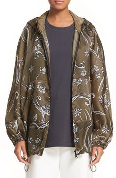 3.1 PHILLIP LIM Floral Print Silk Hoodie. #3.1philliplim #cloth #