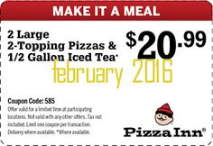 Pizza Inn Coupons Ends of Coupon Promo Codes MAY 2020 ! From Pizza scratch well the of these taste As their the place of crust, South. Free Coupons Online, Free Printable Coupons, Coupon Codes, Pizza, Printables, February 2016, Hot, How To Make, Print Templates