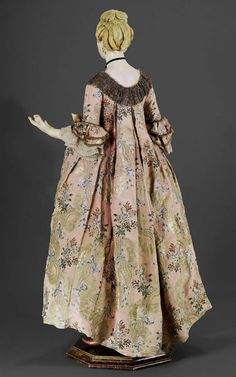 Life-Sized French Mannequin wearing a robe a la Francaise, c.1765, French school