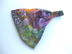 Rainbow Batik Fabric Headband Yoga Hair Head Wrap Women's Gypsy Bandana