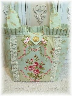 shabby chic tote bag .... very nice