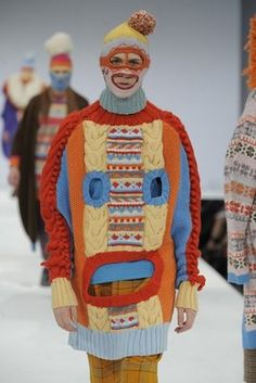 Smaller, hand-knit balaclava jumper, Hannah Taylor, knitwear designer- Graduate Fashion Week 2009
