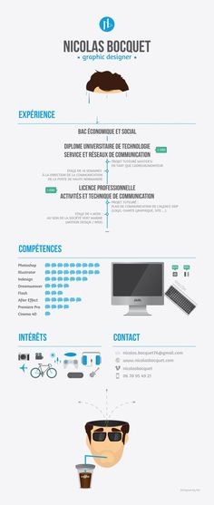 Curriculum Vitae by Bocquet Nicolas, via Behance