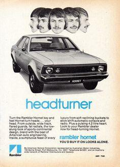 https://flic.kr/p/Vr9x3C   1972 Rambler Hornet 4.2 Litre 6 Cylinder Sedan Aussie Original Magazine Advertisement