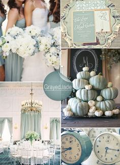 of Green Wedding Color Ideas and Wedding Invitations grayed jade wedding colors for winter weddingsgrayed jade wedding colors for winter weddings Grayed Jade Wedding, Green Wedding, Fall Wedding, Our Wedding, Wedding Dress, Trendy Wedding, Wedding Themes, Wedding Decorations, Winter Wedding Colors