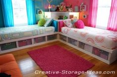 The Homestead Survival   Twin Beds With Storage and Corner Unit   http://thehomesteadsurvival.com