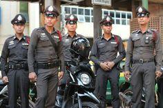 Bangkok, Thai policemen.