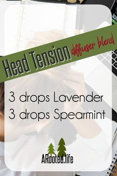 Looking for a way to soothe that nasty head tension? There are many factors that can contribute to head tension, and this is just one of many blends out there that may help. This one works well for the tension I feel behind my eyes.   Like this pin? Click to join my Facebook community for more!