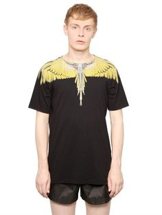 COTTON JERSEY FEATHER T-SHIRT