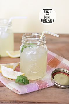 Basil and Mint Lemonade | www.tasteandtellblog.com